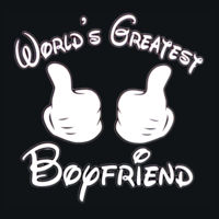 World's Greatest Boyfriend T's - HD Cotton Short Sleeve T-Shirt Design