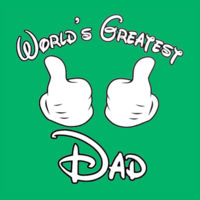 World's Greatest Dad T's - HD Cotton Short Sleeve T-Shirt Design