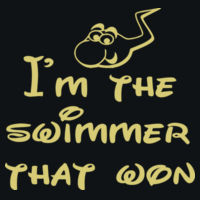 I'm the swimmer that won - HD Cotton Short Sleeve T-Shirt Design