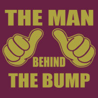 The man behind the bump - HD Cotton Short Sleeve T-Shirt Design