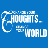 Change your thoughts, change the world - Women's Ideal Fitted Crew T's Design