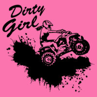 Dirty Girl ATV - Women's Ideal Fitted Crew T's Design