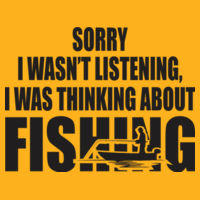 Was thinking about Fishing - HD Cotton Short Sleeve T-Shirt Design