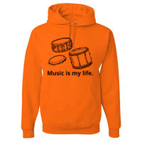 Music is my life Hood sweatshirt Thumbnail