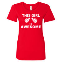 This Girl Is Awesome - Women's Ideal Fitted Crew T's Thumbnail