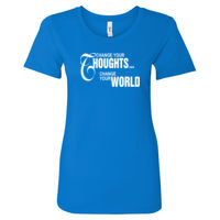 Change your thoughts, change the world - Women's Ideal Fitted Crew T's Thumbnail