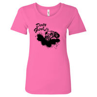 Dirty Girl ATV - Women's Ideal Fitted Crew T's Thumbnail